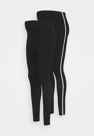 2PACK - Leggings - black