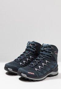 Lowa - INNOX PRO GTX MID - Hiking shoes - stahlblau/lachs - 2
