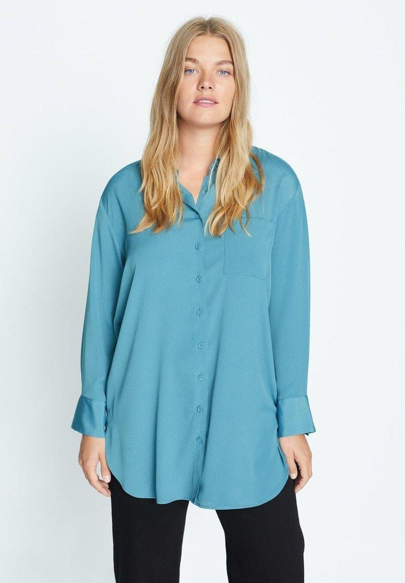 Violeta by Mango - LAURITA - Button-down blouse - petrolejová modrá