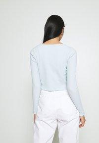 Cotton On - VIVVY TIE FRONT - Kofta - daisy blue - 2