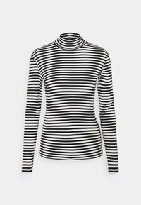 Benetton - TURTLE NECK  - Long sleeved top - black/white - 4