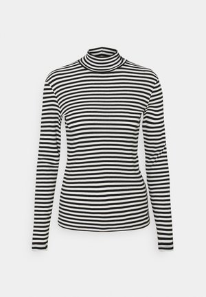 TURTLE NECK  - Long sleeved top - black/white