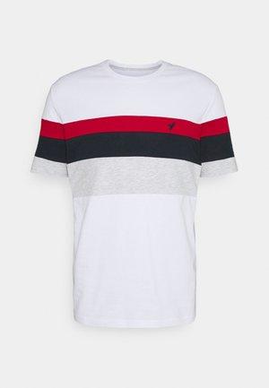 Triko spotiskem - white/red