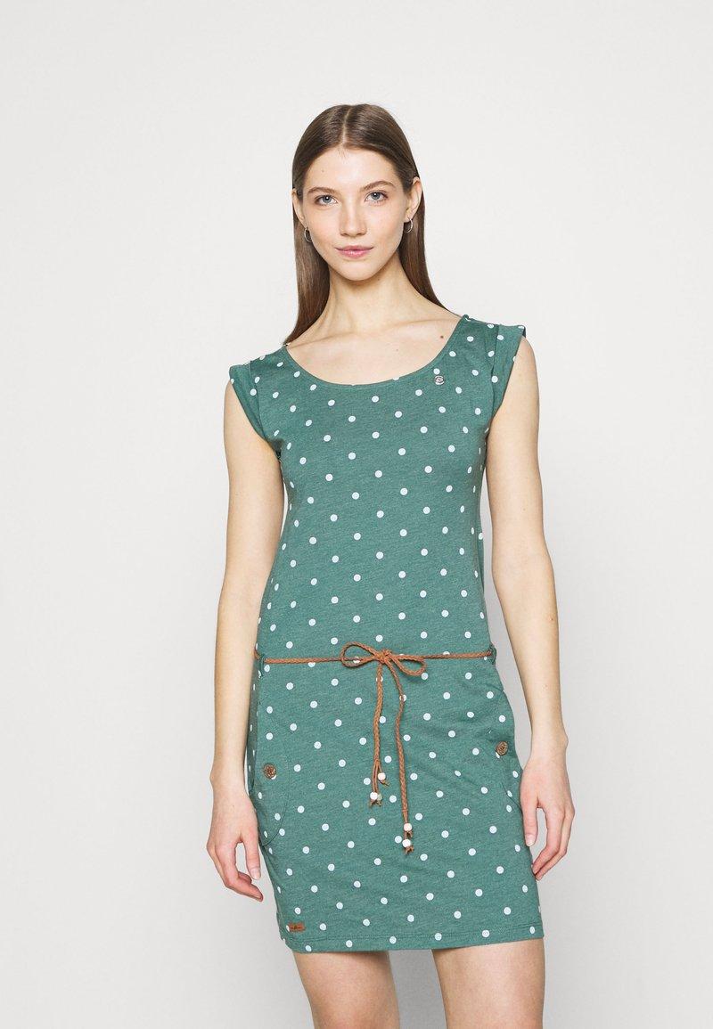 Ragwear - TAG DOTS - Etui-jurk - dark green