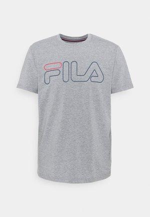 RICKI - T-shirt med print - light grey merlange