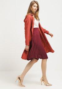 Anna Field - A-line skirt - burgundy - 1