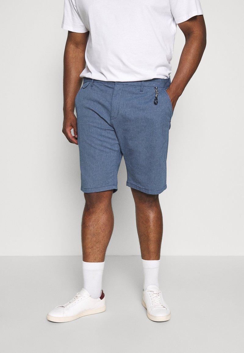 TOM TAILOR MEN PLUS - CHINO STRUCTURE - Shorts - dark blue