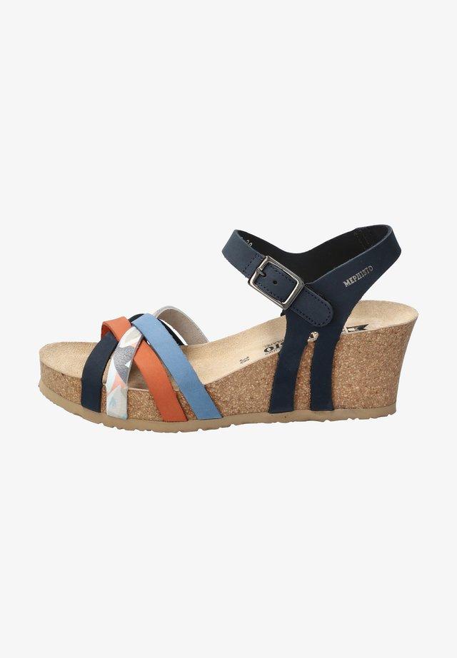 Wedge sandals - blau