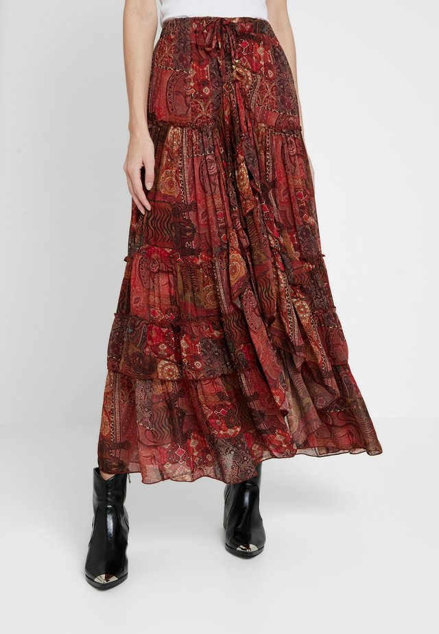 SKIRT LONG - Maxirock - red