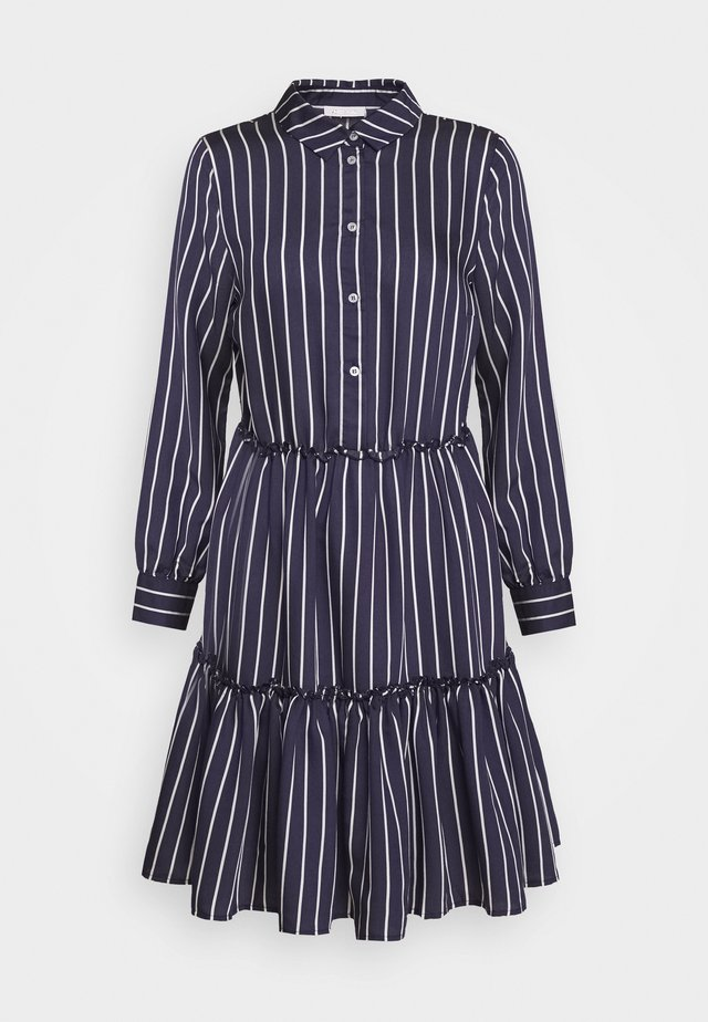 DRESS WITH PEPLUM - Shirt dress - deep indigo