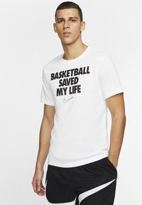 Nike Performance - HERREN BASKETBALL - Print T-shirt - white - 0