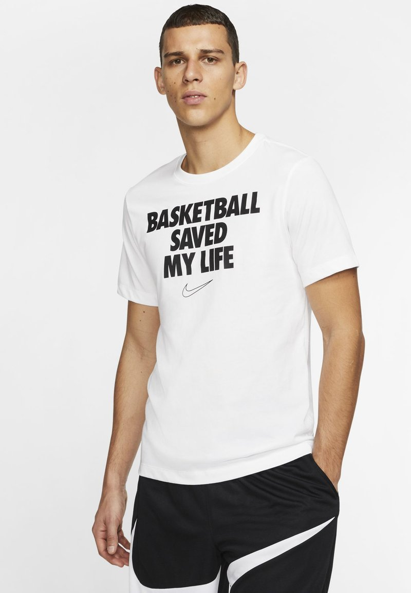 Nike Performance - HERREN BASKETBALL - Print T-shirt - white