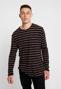 Tigha - ALISTER - Pullover - black/pale brown - 0