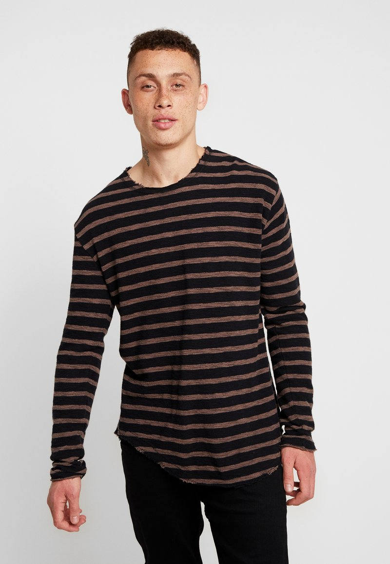 Tigha - ALISTER - Pullover - black/pale brown