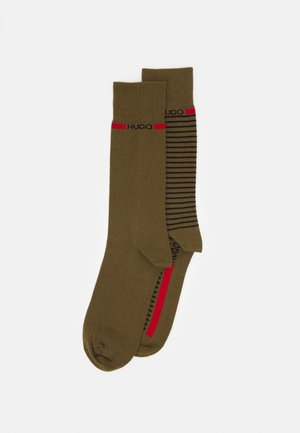 STRIPE 2 PACK - Calcetines - open green