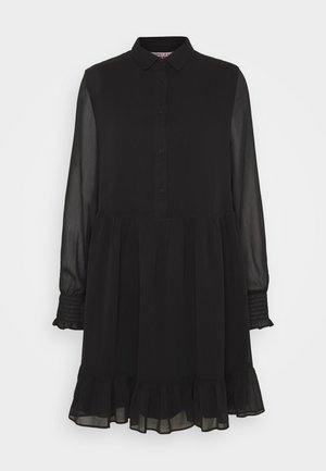 TIERED LINE DRESS - Shirt dress - black