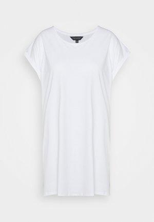 PLAIN LONGLINE TEE - T-shirts - white