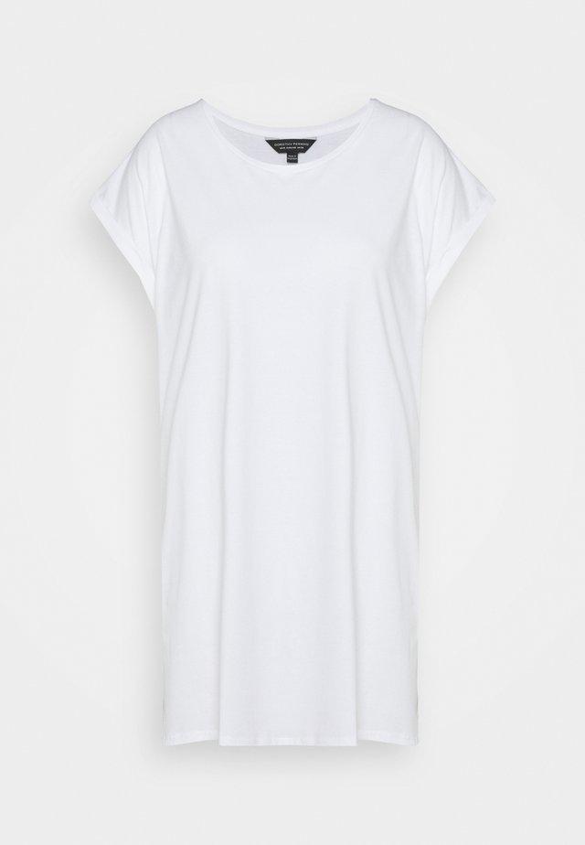 PLAIN LONGLINE TEE - T-shirt basic - white