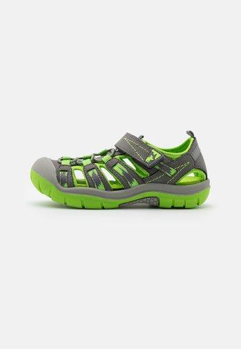 PETE - Walking sandals - dark grey/gras