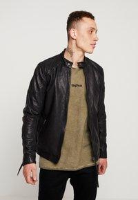 Tigha - QUENTIN - Veste en cuir - black - 0