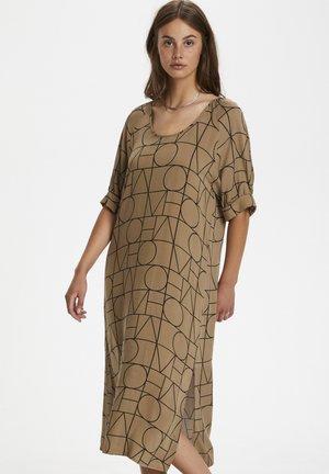 SLMONTOYA  - Day dress - love print ermine