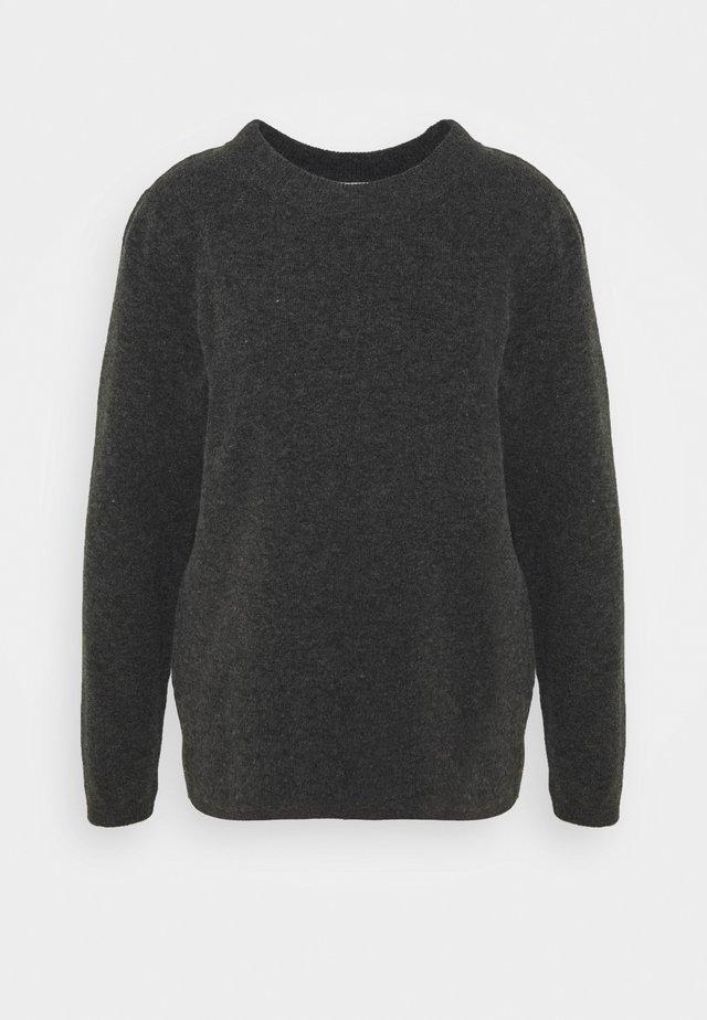 SLFSTACEY  - Stickad tröja - dark grey melange