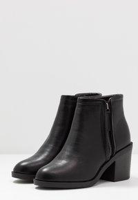 Topshop - BONDI ZIP UNIT - Ankle boots - black - 4