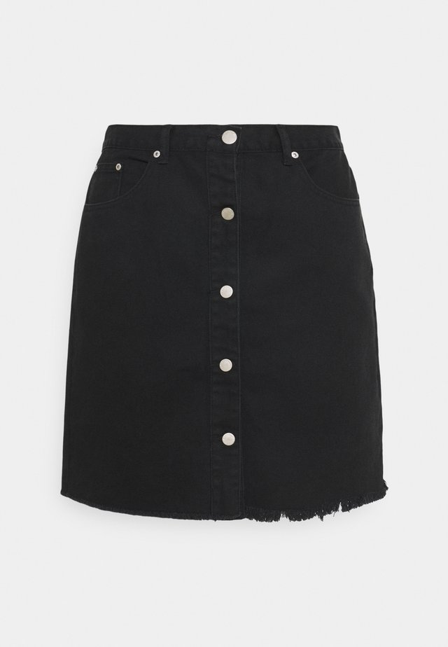 LADIES - Falda vaquera - black