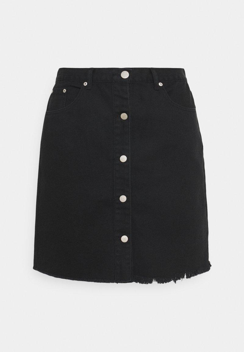 Glamorous Curve - LADIES - Denim skirt - black