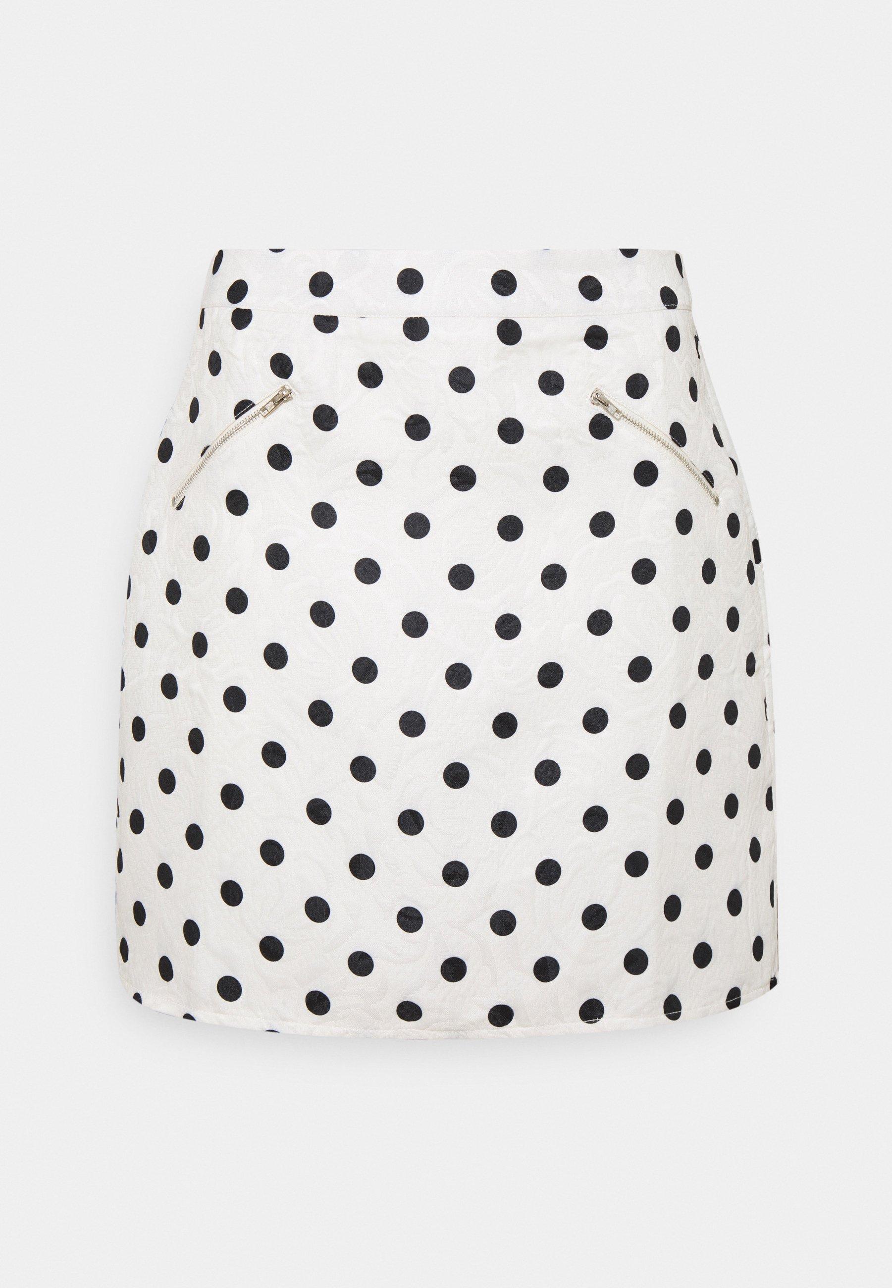 Mujer SPOT ZIP DETAIL MINI SKIRT - Minifalda