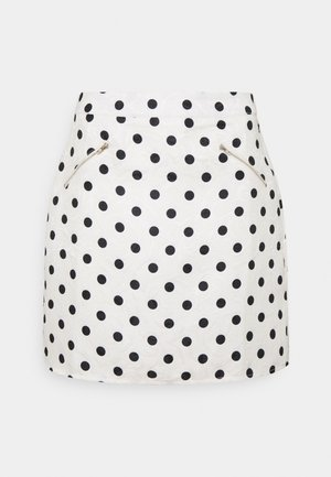 SPOT ZIP DETAIL MINI SKIRT - Mini skirt - cream