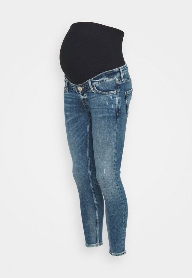 AMELIE RODNEY MID RIPS OVERBUMP - Jeans Skinny - blue