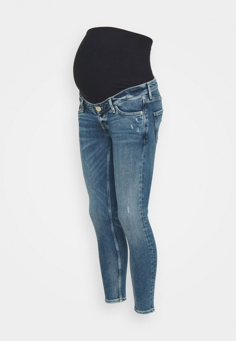 River Island Maternity - AMELIE RODNEY MID RIPS OVERBUMP - Jeans Skinny Fit - blue