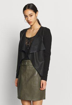 ONLNEWSOUND JACKET - Faux leather jacket - black