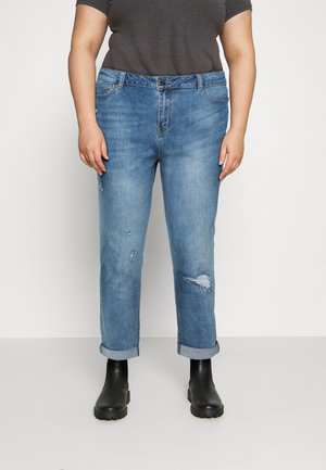 FERN BOYFRIEND - Jeans Tapered Fit - stone blue denim