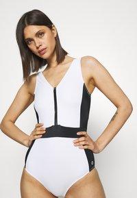 Marks & Spencer London - COLOUR BLOCK - Swimsuit - white mix - 3