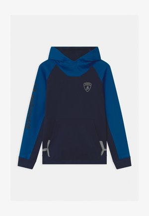 COLOR BLOCK HOODED - Sweatshirt - blue hera