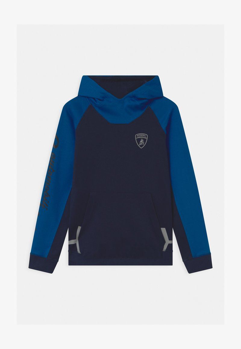 Automobili Lamborghini Kidswear - COLOR BLOCK HOODED - Sweatshirt - blue hera