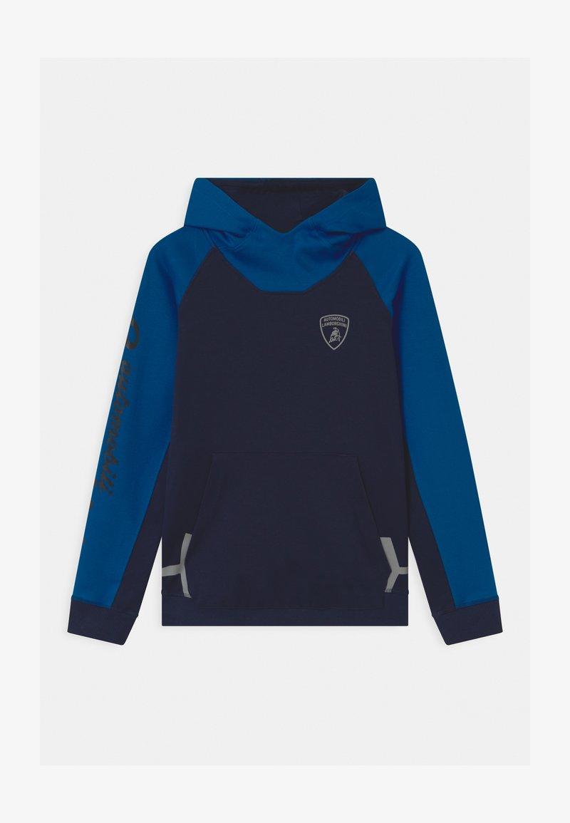 Automobili Lamborghini Kidswear - COLOR BLOCK HOODED - Felpa - blue hera