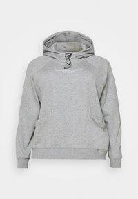 Nike Sportswear - HOODIE  - Mikina skapucí - dark grey heather/white - 0