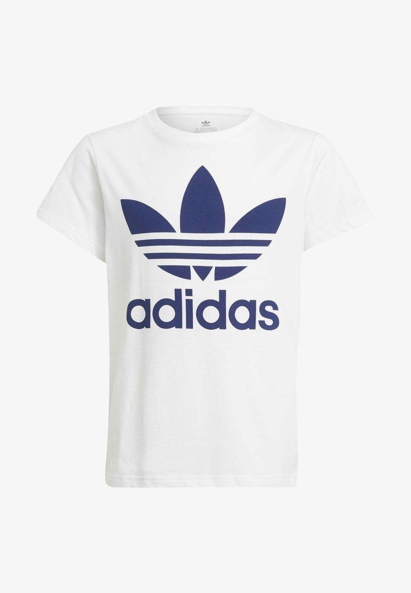 adidas Originals - TREFOIL TEE - Print T-shirt - white/night sky