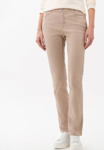 STYLE CAROLA - Straight leg jeans - toffee