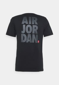 Jordan - CREW - Print T-shirt - black/gym red - 6