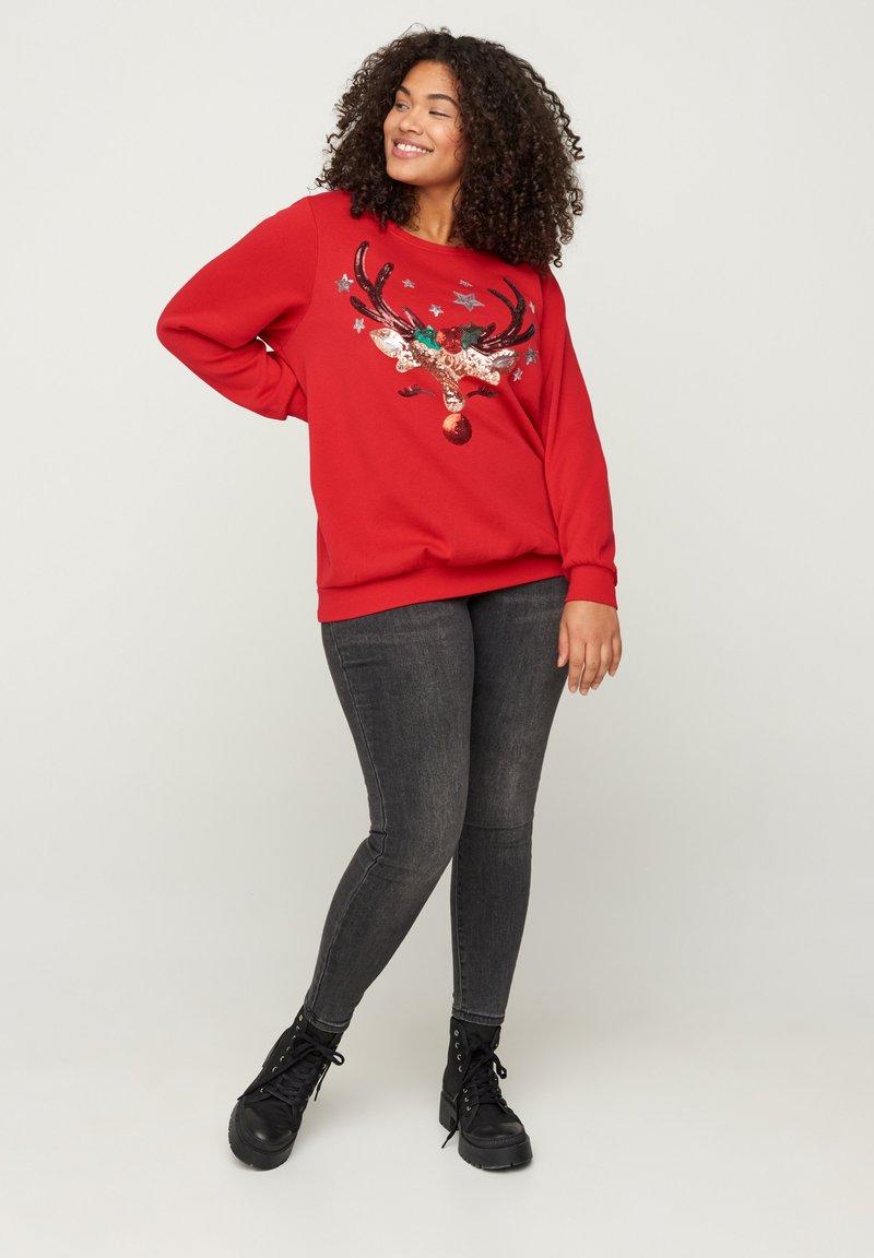 Zizzi - Sweatshirt - red
