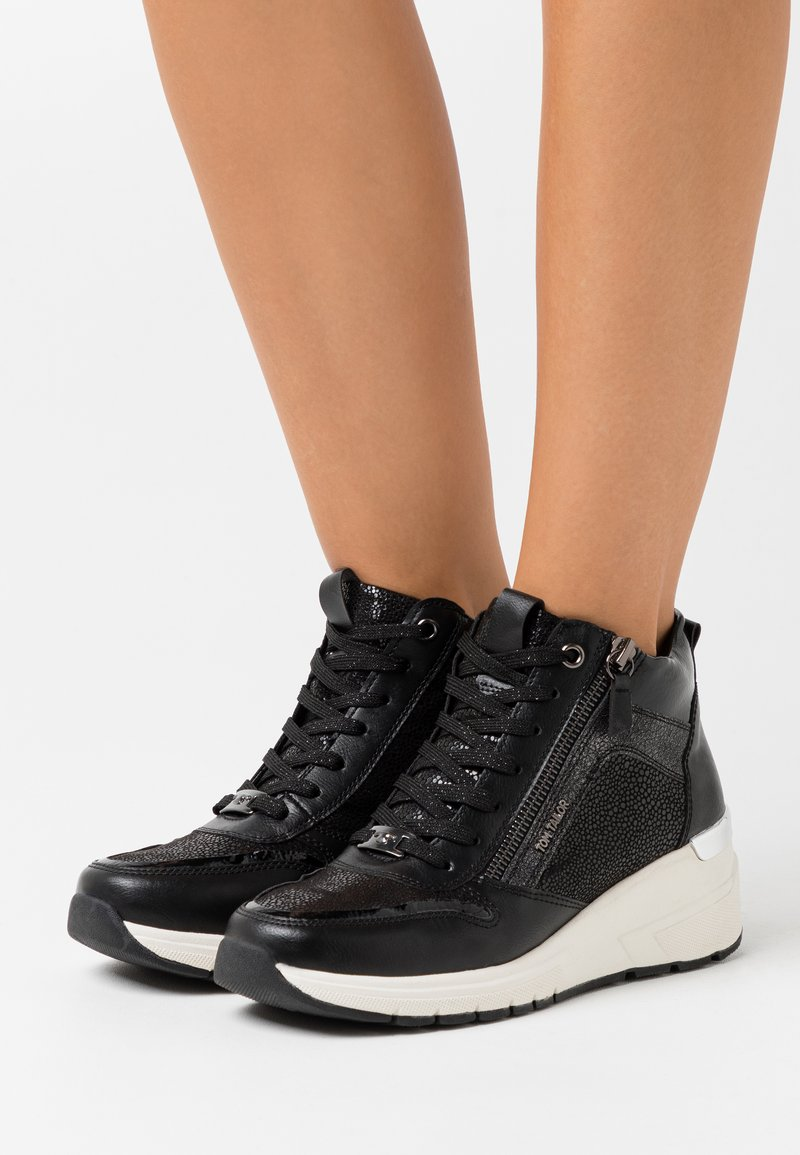 TOM TAILOR - High-top trainers - black