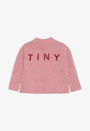TINY MOCK  - Svetr - pale pink/burgundy