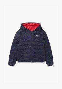 BOSS Kidswear - REVERSIBLE PUFFER - Down jacket - red/blue navy - 0