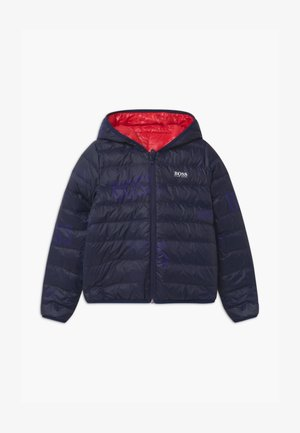 REVERSIBLE PUFFER - Gewatteerde jas - red/blue navy