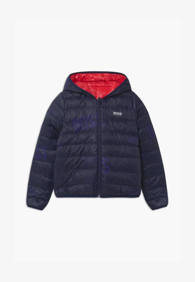 REVERSIBLE PUFFER - Bunda z prachového peří - red/blue navy
