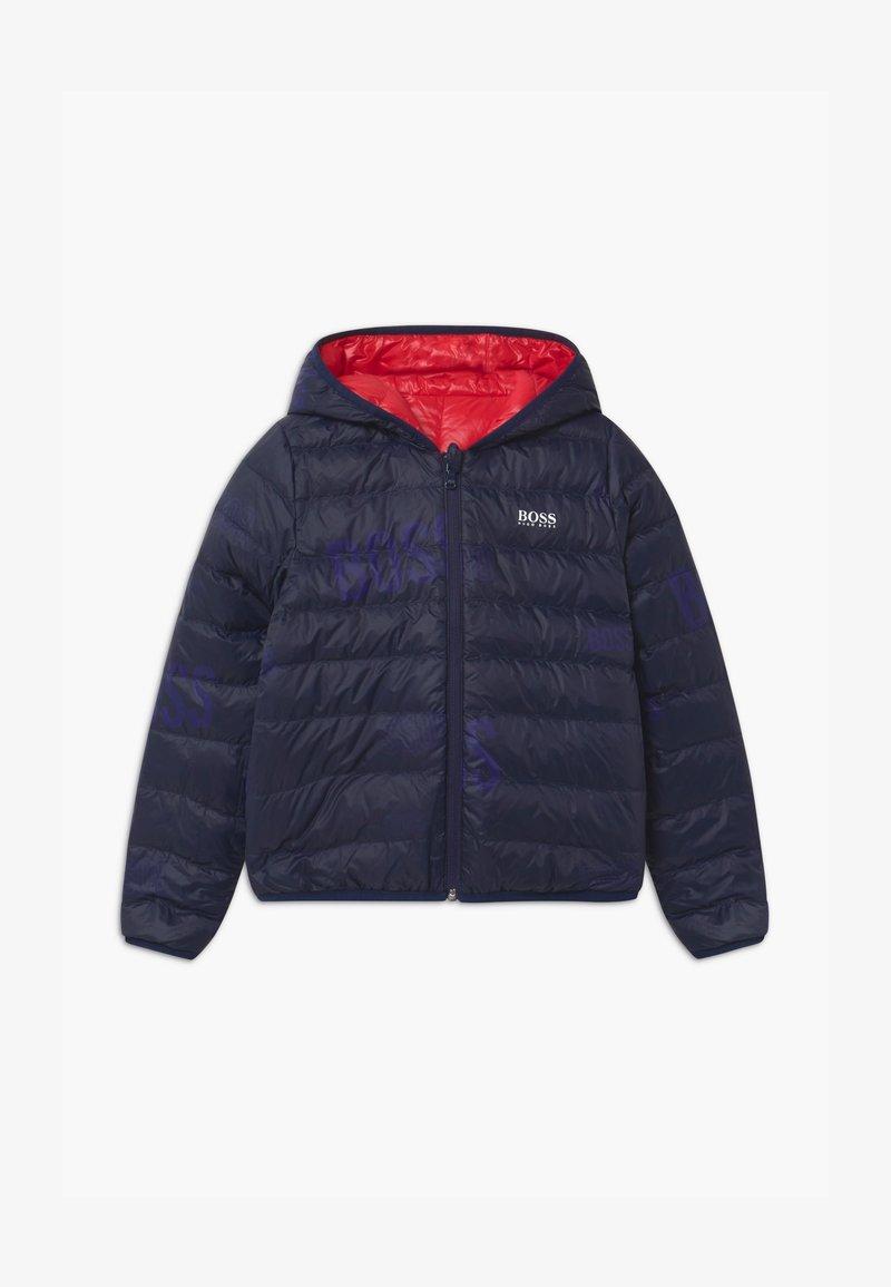 BOSS Kidswear - REVERSIBLE PUFFER - Down jacket - red/blue navy